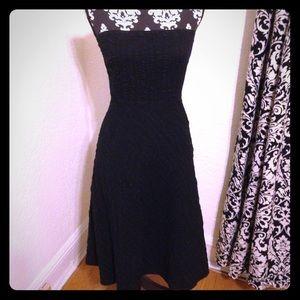 J. Crew black strapless a line cotton sun dress